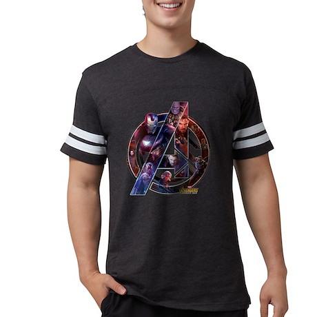 Avengers Infinity War Symbol Mens Football Shirt