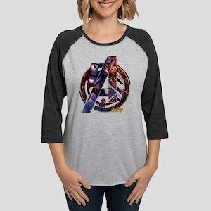 Avengers Infinity War Symbol Womens Baseball Tee