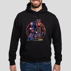 Avengers Infinity War Symbol Hoodie (dark)