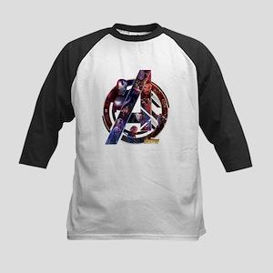 Avengers Infinity War Symbol Kids Baseball Tee