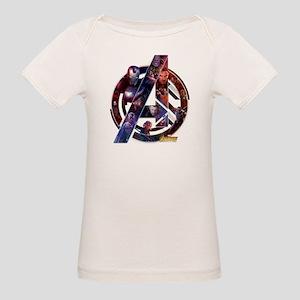 Avengers Infinity War Symbol Organic Baby T-Shirt