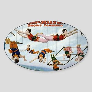Trapeze Artists Oval Sticker