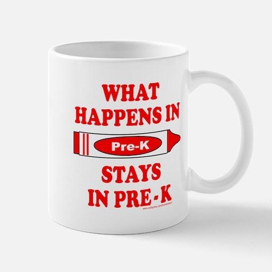WHAT HAPPENS IN PRE-K Mug