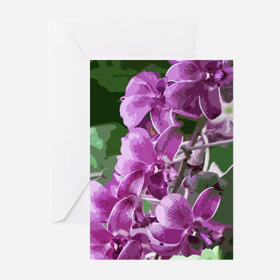 purpleorchidsmodkindlesleeve Greeting Cards