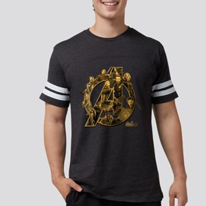 Avengers Infinity War Gold Mens Football Shirt
