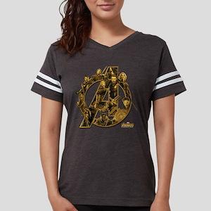 Avengers Infinity War Gold Womens Football Shirt
