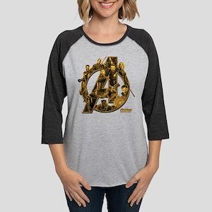 Avengers Infinity War Gold Womens Baseball Tee