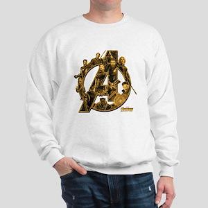 Avengers Infinity War Gold Sweatshirt