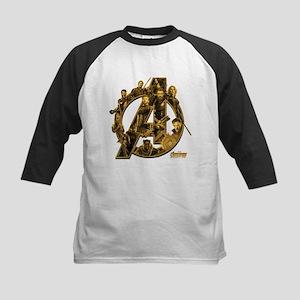 Avengers Infinity War Gold Kids Baseball Tee