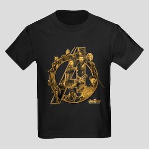 Avengers Infinity War Gold Kids Dark T-Shirt
