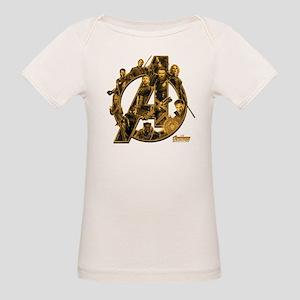 Avengers Infinity War Gold Organic Baby T-Shirt