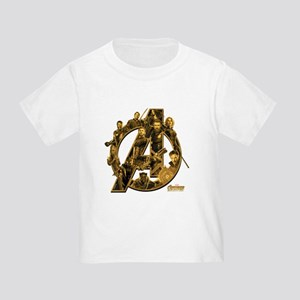Avengers Infinity War Gold Toddler T-Shirt