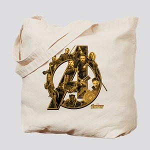Avengers Infinity War Gold Tote Bag