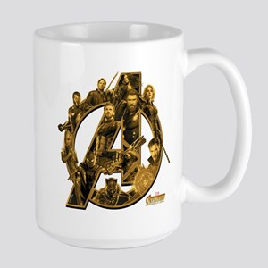 Avengers Infinity War Gol 15 oz Ceramic Large Mug