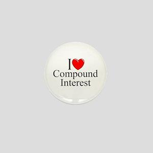 """""""I Love (Heart) Compound Interest"""" Mini Button"""