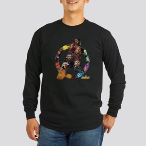 Avengers Infinity War Log Long Sleeve Dark T-Shirt
