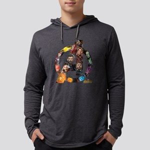 Avengers Infinity War Logo Mens Hooded Shirt