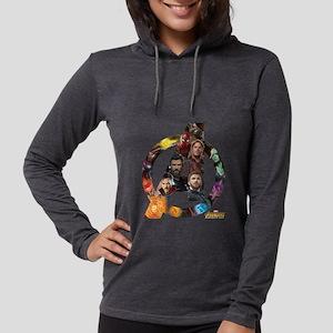 Avengers Infinity War Logo Womens Hooded Shirt