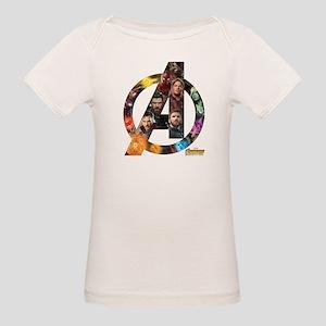 Avengers Infinity War Logo Organic Baby T-Shirt