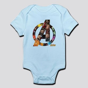 Avengers Infinity War Logo Baby Light Bodysuit
