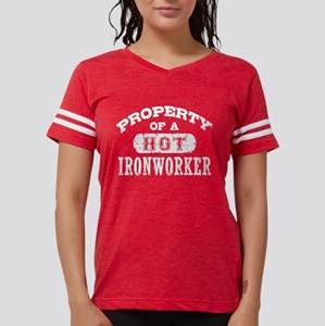 Property of a Hot Ironworker Women's Dark T-Shirt