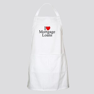 """I Love (Heart) Mortgage Loans"" BBQ Apron"