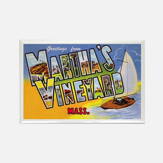 Martha's Vineyard Cape Cod Rectangle Magnet
