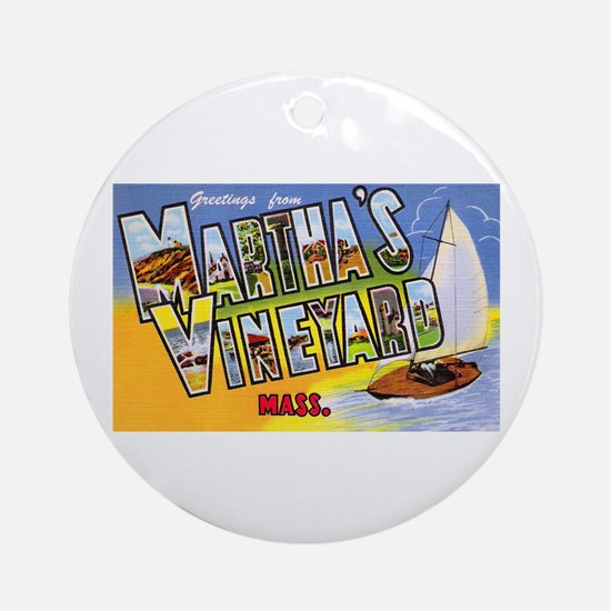 Martha's Vineyard Cape Cod Ornament (Round)