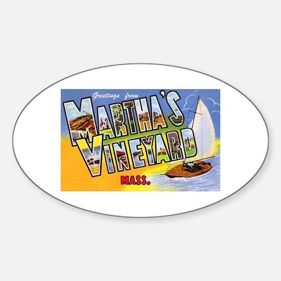 Martha's Vineyard Cape Cod Oval Decal