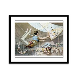 Trapeze Artists Framed Panel Print