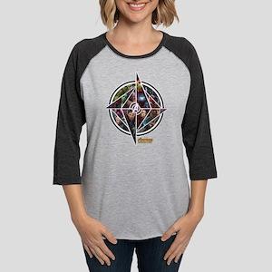 Avengers Infinity War Circle Womens Baseball Tee