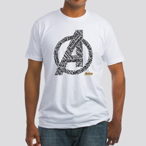 Avengers Infinity War Names Fitted T-Shirt