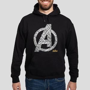 Avengers Infinity War Names Hoodie (dark)