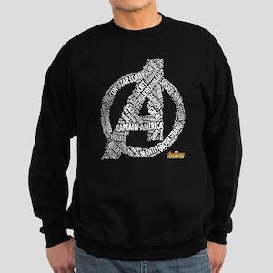 Avengers Infinity War Names Sweatshirt (dark)