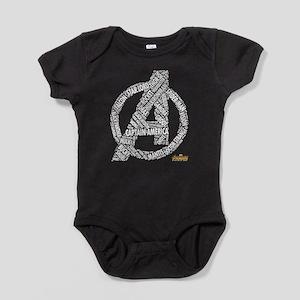 Avengers Infinity War Names Baby Bodysuit