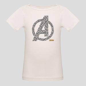 Avengers Infinity War Names Organic Baby T-Shirt