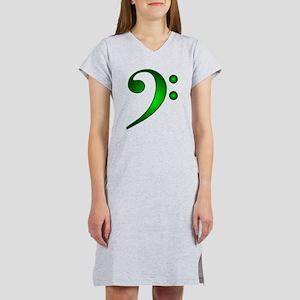 """""""Metallic"""" Green Bass Clef T-Shirt"""