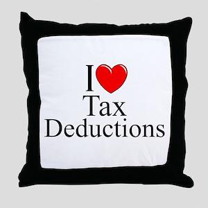 """I Love (Heart) Tax Deductions"" Throw Pillow"