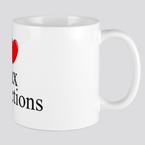 """I Love (Heart) Tax Deductions"" Mug"