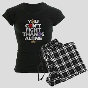 Avengers Infinity War Fight Women's Dark Pajamas