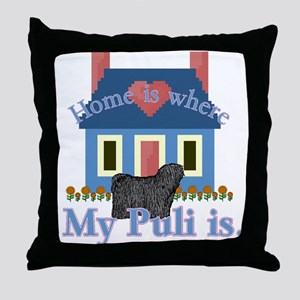 Puli Home Is Throw Pillow