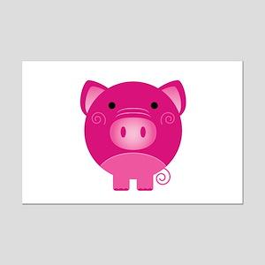 Pink Pig Mini Poster Print