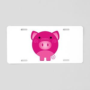 Pink Pig Aluminum License Plate