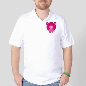 Pink Pig Golf Shirt