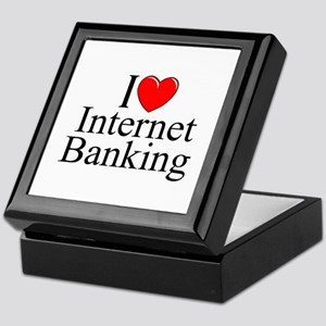 """I Love (Heart) Internet Banking"" Keepsake Box"