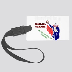 Football fan Large Luggage Tag