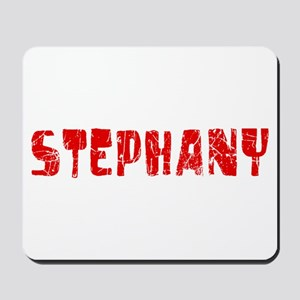 Stephany Faded (Red) Mousepad