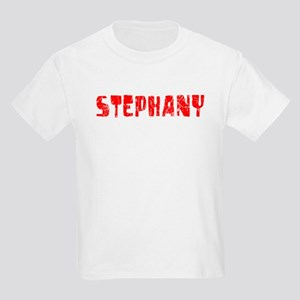 Stephany Faded (Red) Kids Light T-Shirt