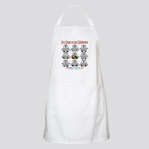 Autism Awareness Penguins BBQ Apron