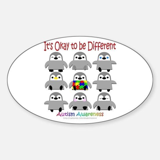 Autism Awareness Penguins Oval Bumper Stickers